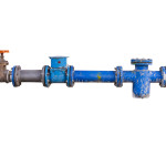 Pipes and heating system on white isolate background with clippi